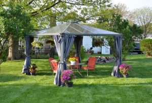 Improve your backyard with pavilion