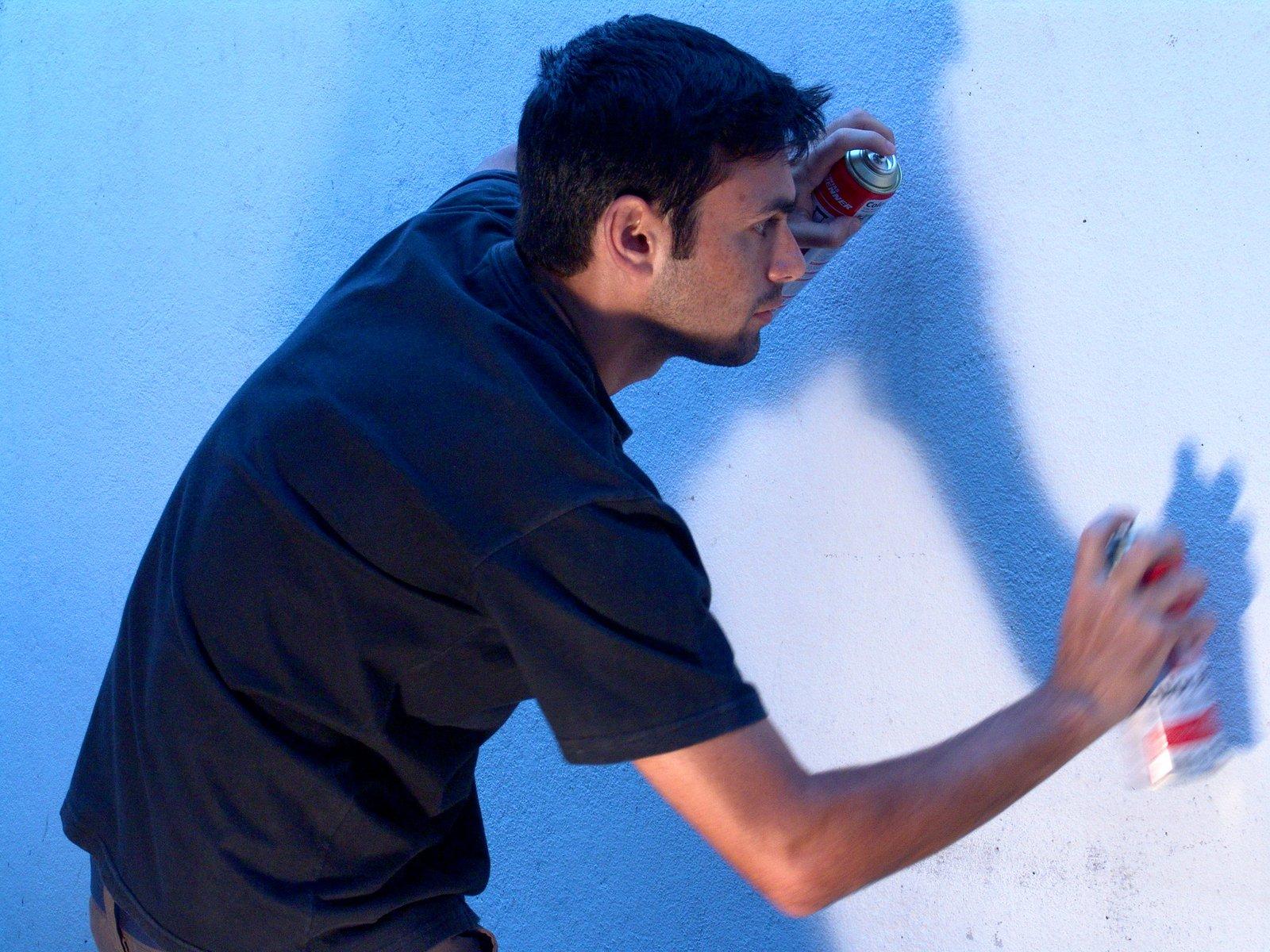The art of graffiti drawing.