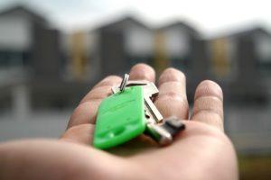 Keys in hands.