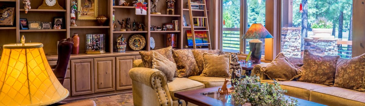 A well- decorated living room in accordance with the latest interior design trends.