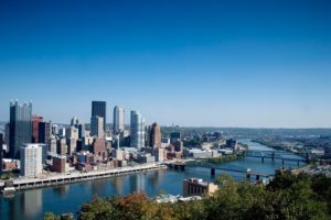 City view in Pittsburgh.